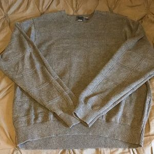 Men's XXL knit gray sweater - worn once!